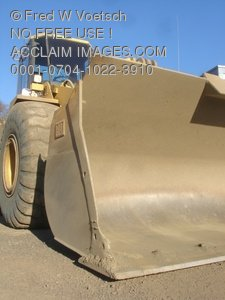 Stock Photograph of a Yellow Wheel Loader or Front Loader
