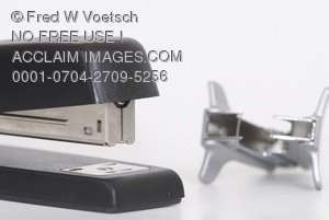 Stock Photo of a Stapler, Staples and a Staple Remover