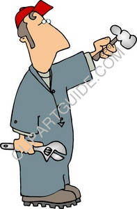 Handyman in Coveralls Holding a Tools