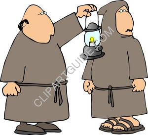Monks With A Lantern