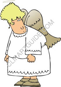 Angel In White Robe