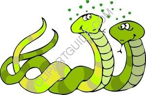 Green Snakes In Love