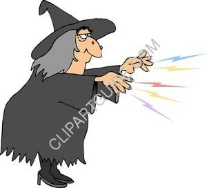 Witch Casting A Spell