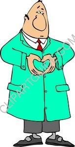 Doctor Making A Heart Shape With His Hands