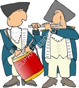 clipart of revolutionary war drummer and piper rh clipartguide com revolutionary war soldier clipart revolutionary war flag clipart