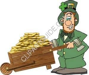 Leprechaun With A Load Of Gold