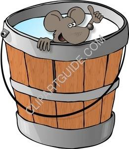 Mouse In A Milk Bucket