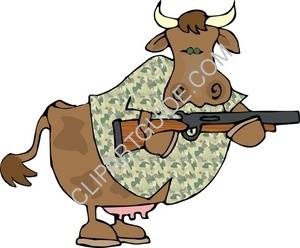 Cow With A Rifle