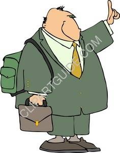 Businessman With A Backpack