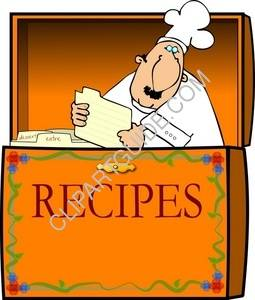 Chef In A Recipe Box