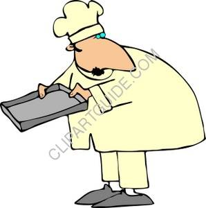 Chef Holding An Empty Baking Sheet