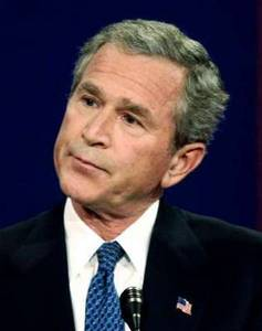 Goofy Looking President George W. Bush
