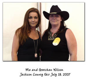 Me And Gretchen Wilson, Jackson County Fair, Oregon