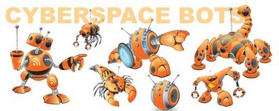 Cyberspace Robots Banner Add from IllustrationsOf.com