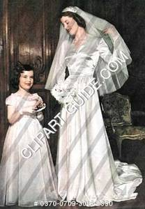 1940s Bride and Flower Girl
