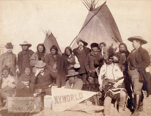 Free Picture of Indian Chiefs and U.S. Officials, 1891