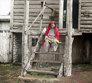 Free Picture of a Bashkir woman in folk costume