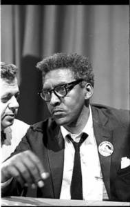 Free Picture of Bayard Rustin at New Briefing, 1963