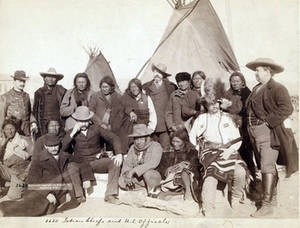 Free Picture of Indian Chiefs and U.S. Officials at Pine Ridge South Dakota