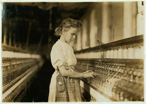 Free Picture of Girl working in Cherryville Mill