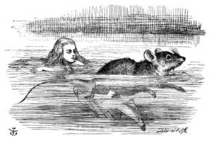 Free Picture of Alice Swimming Near a Mouse