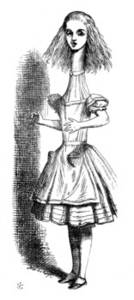 Free Picture of Alice Grown Tall From Alice in Wonderland