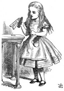 """Free Picture of Alice In Wonderland, """"Drink Me"""""""
