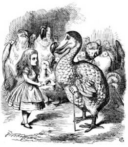 Free Picture From Alice in Wonderland of Alice and the Dodo Bird