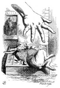 Free Picture From Alice in Wonderland of Alice's Hand