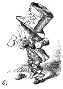 Free Picture of The Mad Hatter Arriving Hastily in Court to Testify