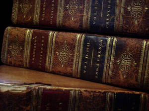 Free Picture of Spines of Antique Books