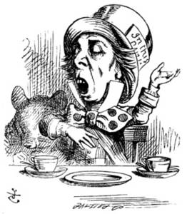 Free Picture of the Mad Hatter Engaging in Rhetoric with the Tea Party Guests