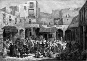 Free picture of Egyptian Slave Market, Cairo, 1878