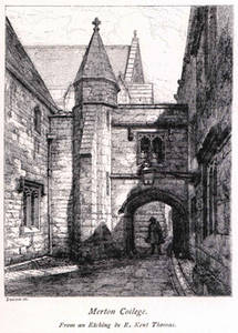 Free Picture of Merton College, Oxford, England