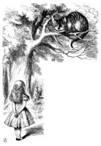 Free Picture of Alice and the Cheshire Cat