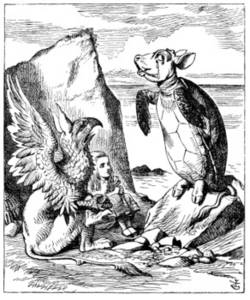 Free Illustration of Alice, The Mock Turtle and the Gryphon