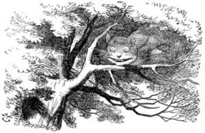 Free Illustration of the Cheshire Cat In a Tree