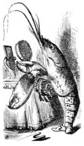 Free Picture of The Lobster Primping from Alice in Wonderland