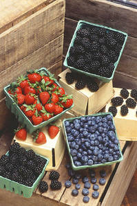 Free Photo of Baskets of Berries
