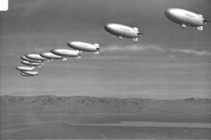 Free Photo of a Group of Dirigibles