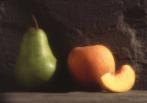Free Photo of a Pear and a Peach