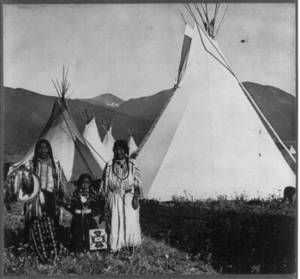 Free Photo of Chief Charlot and His Family at the Flathead Reserve