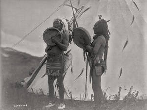 Free Photo of Two Dakota Men Playing Drums and Singing