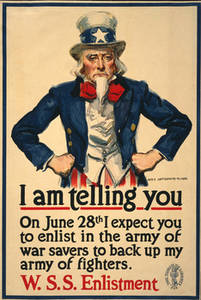 Free Picture of an Uncle Sam Poster, WSS Enlistment