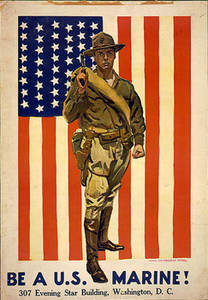 Free Picture of a United States Marines Recruiting Poster