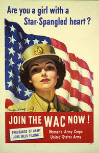 Free Picture of a Womans Army Corps Recruiting Poster