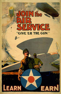 Free Picture of WWII Air Service Recruiting Poster