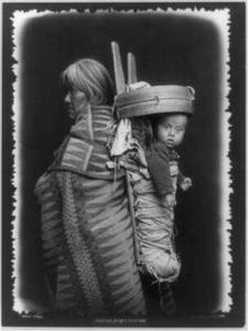 Free Photo of Navajo Mother with a Papoose, 1914