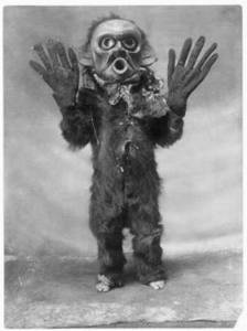Free Photo of a Koskimo Indian in a Hami Mask