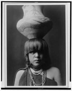 Free Photo of a Young San Ildefonso Indian Girl
